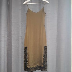 Zara Trafaluc Collection Olive Green Slip Dress